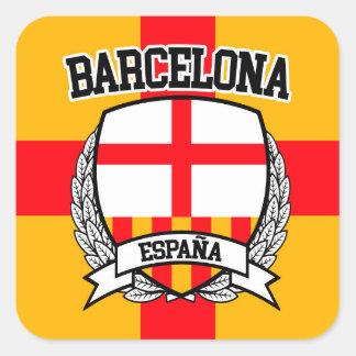 Barcelona Quadratischer Aufkleber
