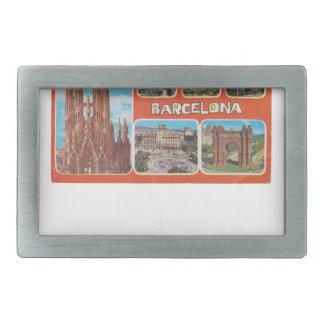 Barcelona-Rückblick Rechteckige Gürtelschnalle