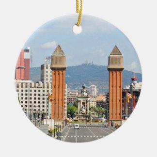 Barcelona Rundes Keramik Ornament