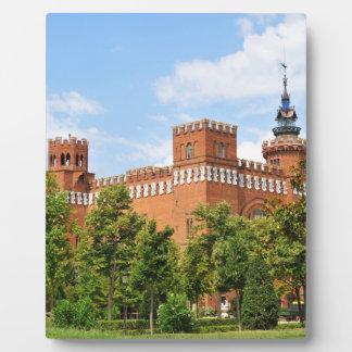 Barcelona-Schloss Fotoplatte