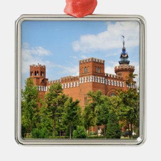 Barcelona-Schloss Silbernes Ornament