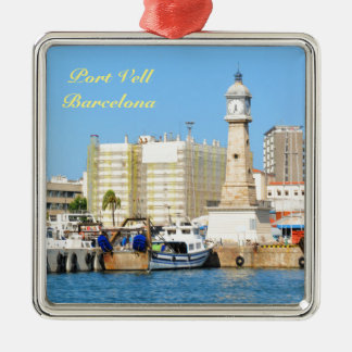 Barcelona Silbernes Ornament