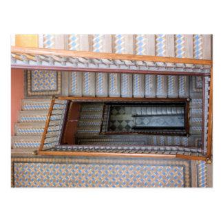 Barcelona, Spanien - Fliesen-Treppenhaus-Postkarte Postkarte
