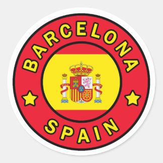 Barcelona Spanien Runder Aufkleber
