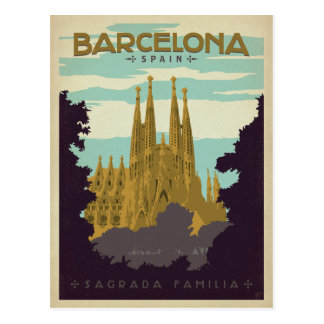 Barcelona, Spanien - Sagrada Familia Postkarte