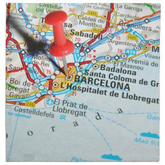 Barcelona, Spanien Stoffserviette