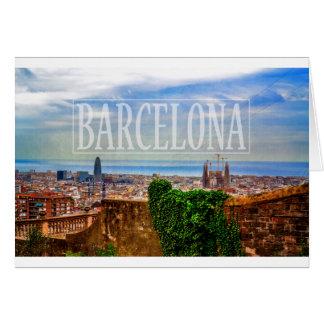 Barcelona-Stadt Grußkarte