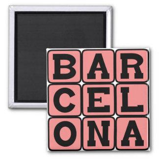 Barcelona, Stadt in Spanien Quadratischer Magnet