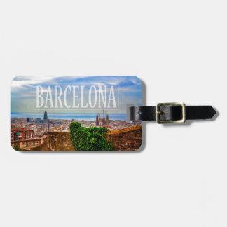 Barcelona-Stadt Kofferanhänger