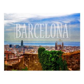 Barcelona-Stadt Postkarten