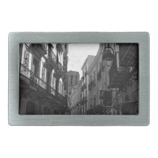 Barcelona-Straße Rechteckige Gürtelschnalle