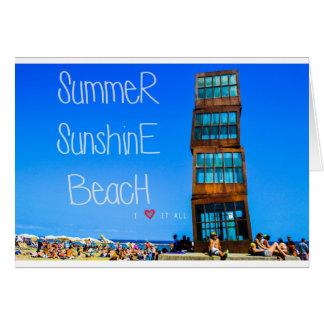 Barceloneta Strand Grußkarte