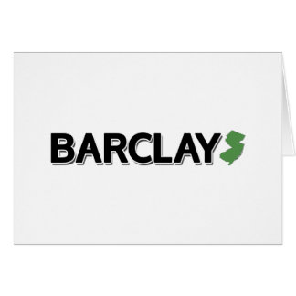 Barclay, New-Jersey Karte