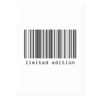 Barcode - begrenzte Ausgabe Postkarte
