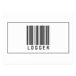 Barcode-Blockwinde Postkarte