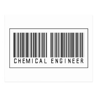 Barcode-Chemieingenieur Postkarte