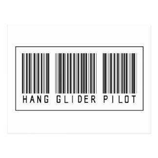 Barcode-Fall-Segelflugzeug-Pilot Postkarte
