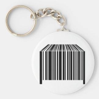 Barcode geformt wie Tabelle Schlüsselanhänger