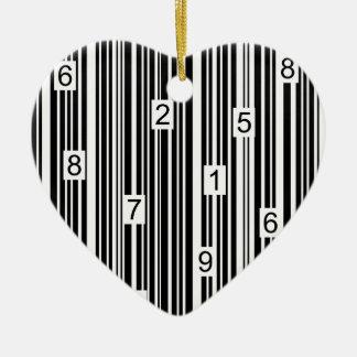 Barcode Keramik Ornament
