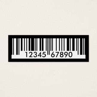 Barcode Mini Visitenkarte