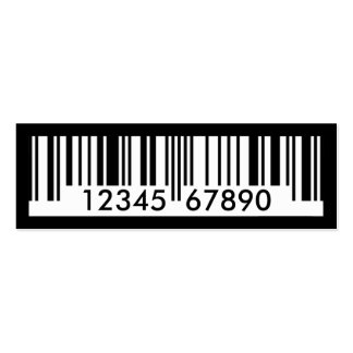 Barcode Mini-Visitenkarten