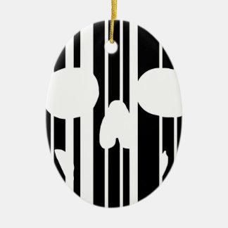 Barcode-Schädel Keramik Ornament