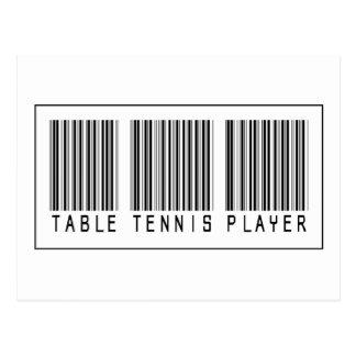 Barcode-Tischtennis-Spieler Postkarte