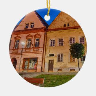 Bardejov ist eine Stadt von Slowakei Rundes Keramik Ornament