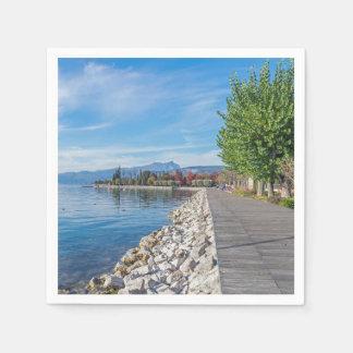 Bardolino Promenade auf See Garda Papierserviette