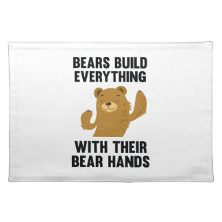 Bären errichten alles mit ihren Bärn-Händen Tischsets