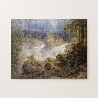 Bären im Holz durch Georg Saal Vintag Puzzle