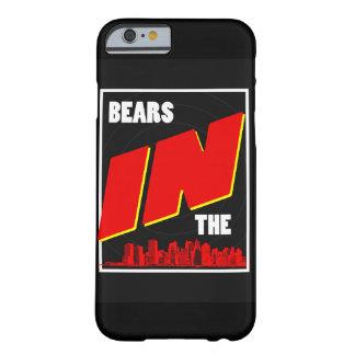 Bären im Stadt Retro Telefonkasten Barely There iPhone 6 Hülle