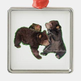 Bärenjunge Silbernes Ornament