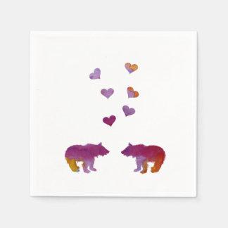 Bärenjunges Papierserviette
