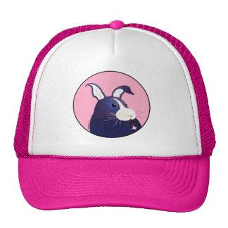 BargasArtwork großer blauer Häschen-Hut Netzmütze