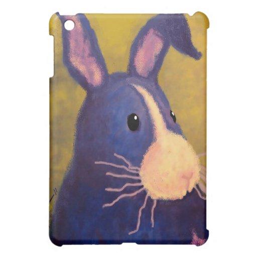 BargasArtworks großer blauer Häschen-Speck-Kasten iPad Mini Cover