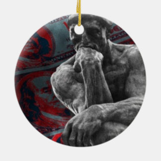 Bargeld-Dollar Auguste Rodin der Denker Keramik Ornament