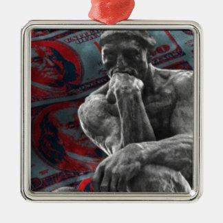Bargeld-Dollar Auguste Rodin der Denker Silbernes Ornament