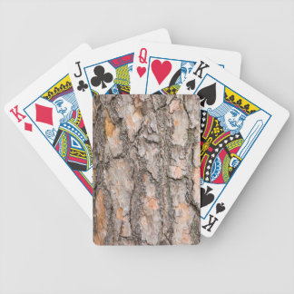 Barke der schottischen Kiefers als Hintergrund Bicycle Spielkarten