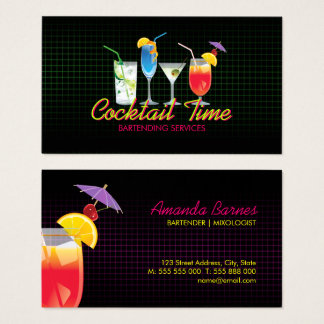 Barkeeper-Cocktail trinkt Mixologistgeschäftskarte Visitenkarte