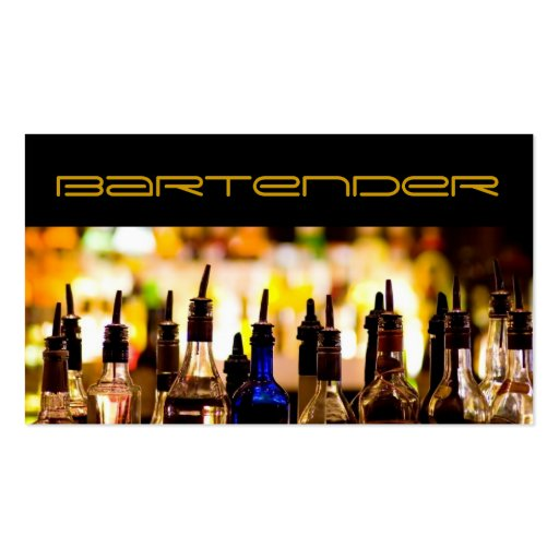 Barkeeper-Geschäfts-Karte Visitenkartenvorlage
