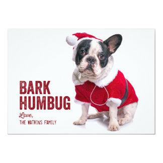 Barken-Humbug-Hundeliebhaber-Feiertags-Karte 12,7 X 17,8 Cm Einladungskarte