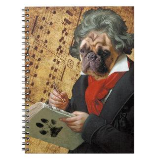 Barkthoven - der Beethoven-Mops Notizblock