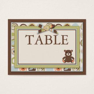 Bärn-Bärn-Jungen-Tabellen-Karte flach Mini Visitenkarte