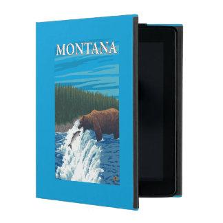 Bärn-Fischen im Fluss- Montana iPad Etuis