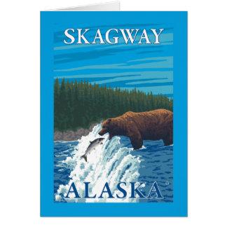 Bärn-Fischen im Fluss- Skagway, Alaska Karte