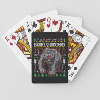 Bärn-hässliche Weihnachtsstrickjacke-Tier-Reihe Spielkarten
