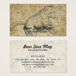 Bärn-Karten-Konstellation Ursa Major TAN Visitenkarte