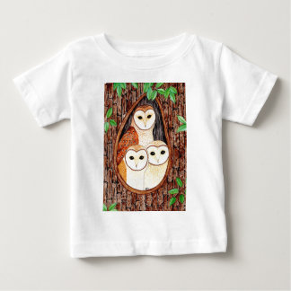 Barn Owl Family Baby T-shirt