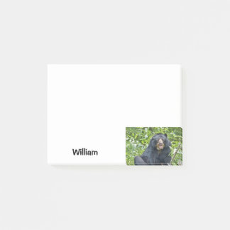 Bärn-personalisierter Name - Tier Post-it Klebezettel